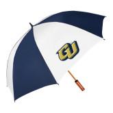 62 Inch Navy/White Vented Umbrella-GU
