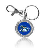 Crystal Studded Round Key Chain-GBC