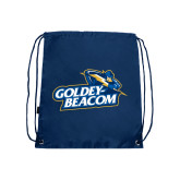 Navy Drawstring Backpack-Goldey-Beacom Official Logo
