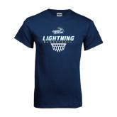 Navy T Shirt-Basketball Net Design