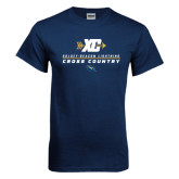 Navy T Shirt-Cross Country Arrow Design