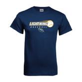 Navy T Shirt-Baseball Ball Design