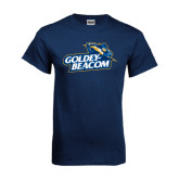 Navy T Shirt-Goldey-Beacom Official Logo Distressed
