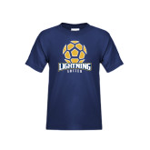 Youth Navy T Shirt-Soccer Ball Design