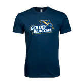 Next Level SoftStyle Navy T Shirt-Goldey-Beacom Official Logo