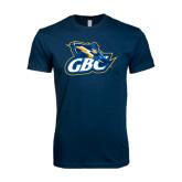 Next Level SoftStyle Navy T Shirt-GBC