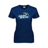 Ladies Navy T Shirt-Goldey-Beacom Official Logo