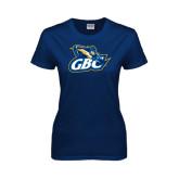 Ladies Navy T Shirt-GBC