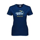 Ladies Navy T Shirt-Athletics
