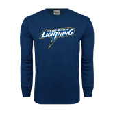 Navy Long Sleeve T Shirt-Goldey-Beacom Lightning