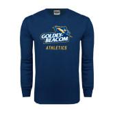Navy Long Sleeve T Shirt-Athletics