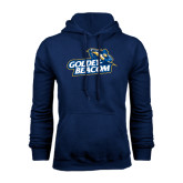 Navy Fleece Hoodie-Goldey-Beacom Official Logo