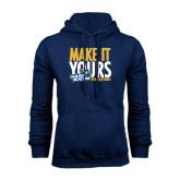 Navy Fleece Hoodie-Make It Yours