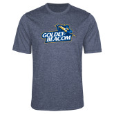 Performance Navy Heather Contender Tee-Goldey-Beacom Official Logo