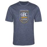 Performance Navy Heather Contender Tee-GBC Shield with School Name