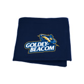 Navy Sweatshirt Blanket-Goldey-Beacom Official Logo
