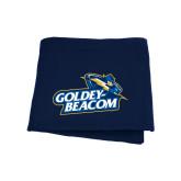 Navy Sweatshirt Blanket-Goldey-Beacom Official Logo