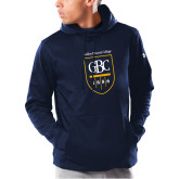 Under Armour Navy Armour Fleece Hoodie-GBC Shield with School Name