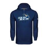 Under Armour Navy Performance Sweats Team Hoodie-Goldey-Beacom Official Logo