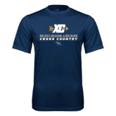 Syntrel Performance Navy Tee-Cross Country Arrow Design