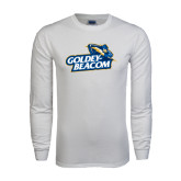 White Long Sleeve T Shirt-Goldey-Beacom Official Logo