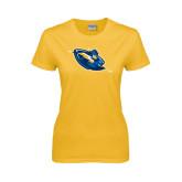 Ladies Gold T Shirt-Lightning Man