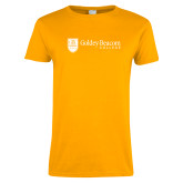Ladies Gold T Shirt-Goldey Beacom College Horizontal