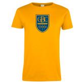Ladies Gold T Shirt-GBC Shield