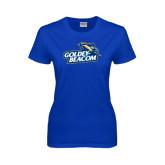 Ladies Royal T Shirt-Goldey-Beacom Official Logo