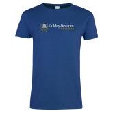 Ladies Royal T Shirt-Goldey Beacom College Horizontal