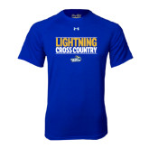 Under Armour Royal Tech Tee-Cross Country Stacked