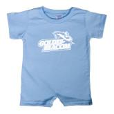 Light Blue Infant Romper-Goldey-Beacom Official Logo