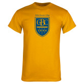 Gold T Shirt-GBC Shield with School Name
