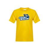 Youth Gold T Shirt-Goldey-Beacom Official Logo