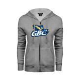 ENZA Ladies Grey Fleece Full Zip Hoodie-GBC