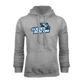Grey Fleece Hoodie-Goldey-Beacom Official Logo