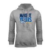 Grey Fleece Hoodie-Make It Yours