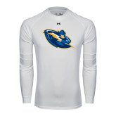Under Armour White Long Sleeve Tech Tee-Lightning Man