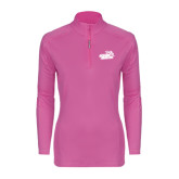Ladies Syntrel Interlock Raspberry 1/4 Zip-Goldey-Beacom Official Logo