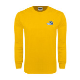 Gold Long Sleeve T Shirt-Goldey-Beacom Official Logo