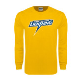 Gold Long Sleeve T Shirt-Goldey-Beacom Lightning