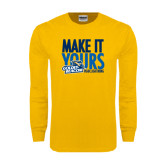 Gold Long Sleeve T Shirt-Make It Yours