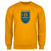 Gold Fleece Crew-GBC Shield with School Name