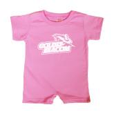 Bubble Gum Pink Infant Romper-Goldey-Beacom Official Logo