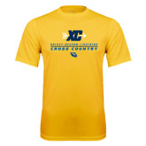 Performance Gold Tee-Cross Country Arrow Design