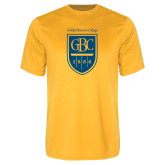 Performance Gold Tee-GBC Shield with School Name