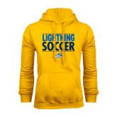 Gold Fleece Hoodie-Soccer Stacked