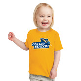 Toddler Gold T Shirt-Goldey-Beacom Official Logo