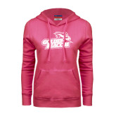 Fuchsia Fleece Hoodie-Goldey-Beacom Official Logo