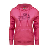 Fuchsia Fleece Hoodie-Goldey-Beacom Official Logo Glitter